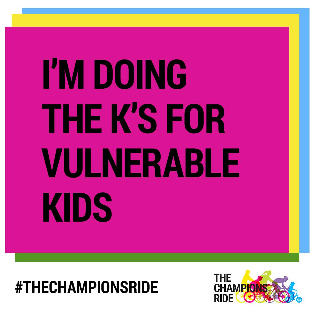 Social Tile - I'm Doing the K's for Kids - TEXT