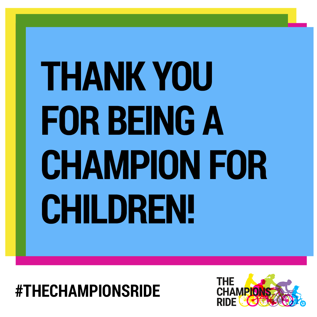 Social Tile - Thank You  for Being a Champion- Text